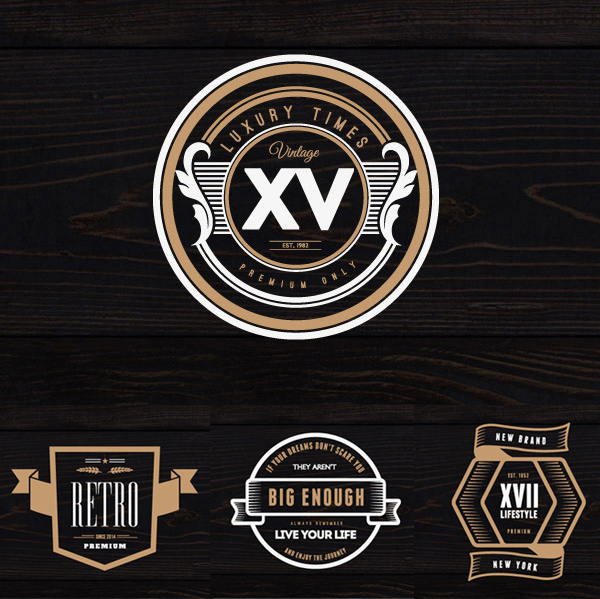 Free PSD Vintage Logos and Badges