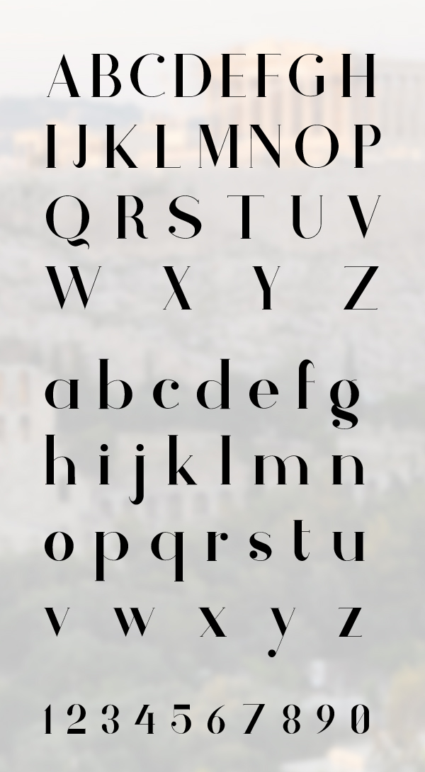 Athene font letters