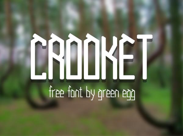 Crooked free font