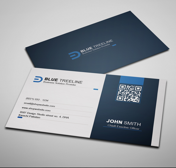Modern Corporate Business Card Preview - 2