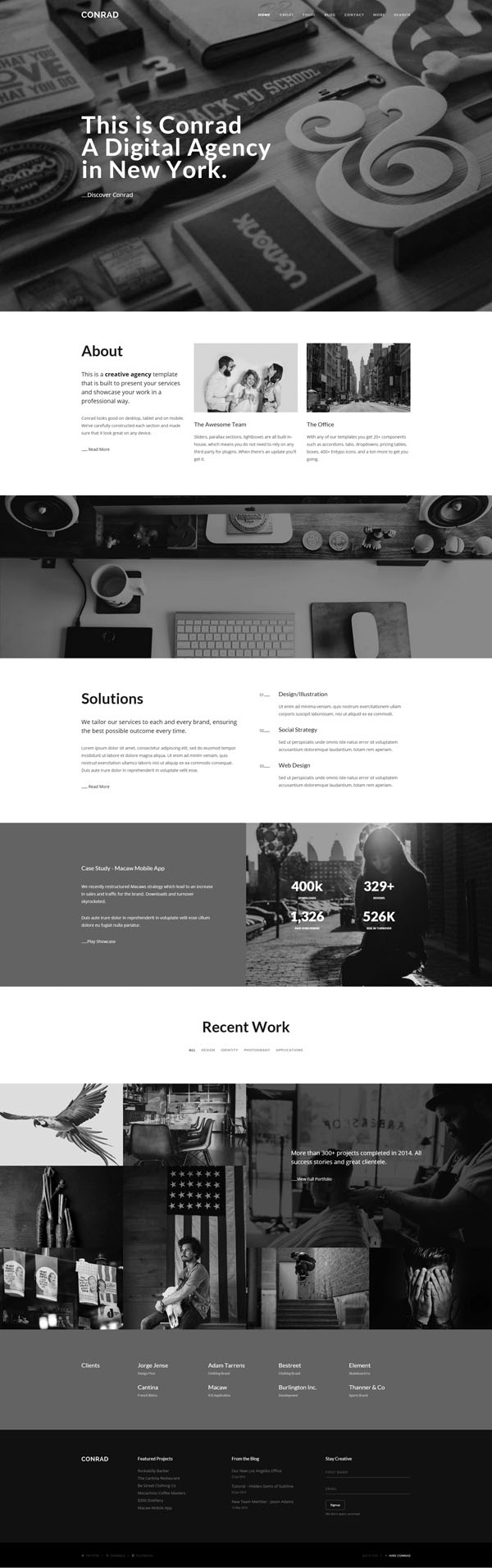 Conrad - Creative Multi-Purpose HTML Template