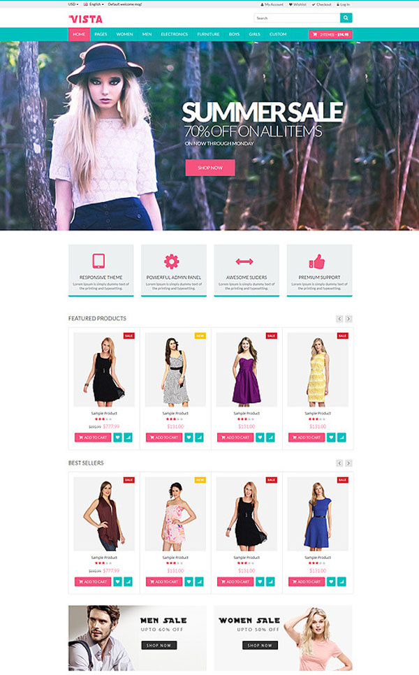 Vista - Responsive Multipurpose HTML5 Template