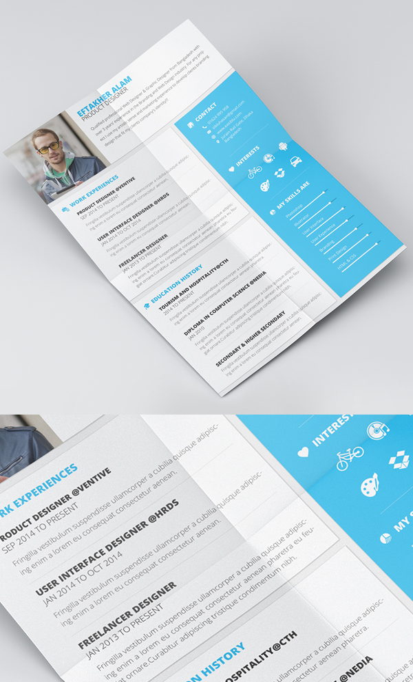 Free Material Style Resume/CV & Cover Letter