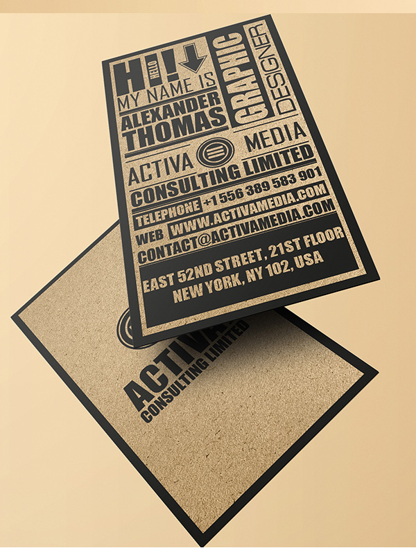 Kraft Paper Typography Business Card