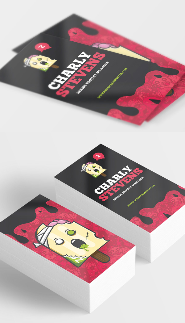 Zombie Popsicle Monster BusinessCard