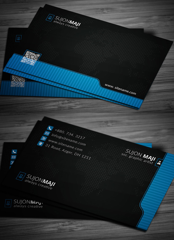 Pro & Black Business Card Template