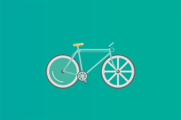 How to Create a Flat Design Bicycle in Adobe Illustrator Tutorial