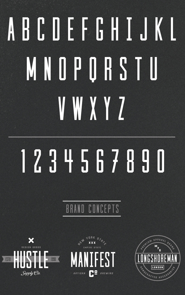 Cast Iron Font Letters and Numbers