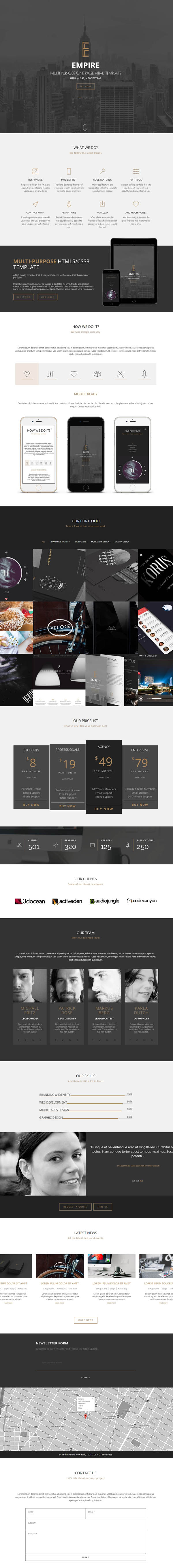 Empire - Multipurpose One Page Responsive Template