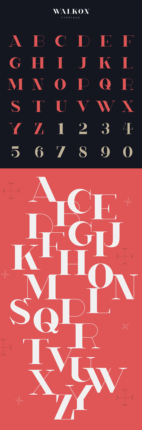 WalkOn Font Letters and Numbers