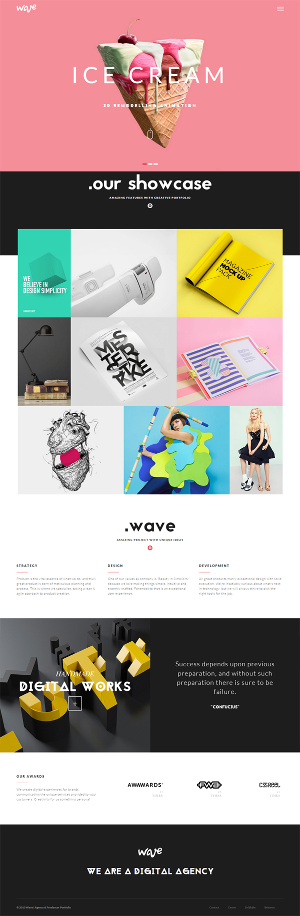 Wave - Agency & Freelancer Portfolio WP Theme