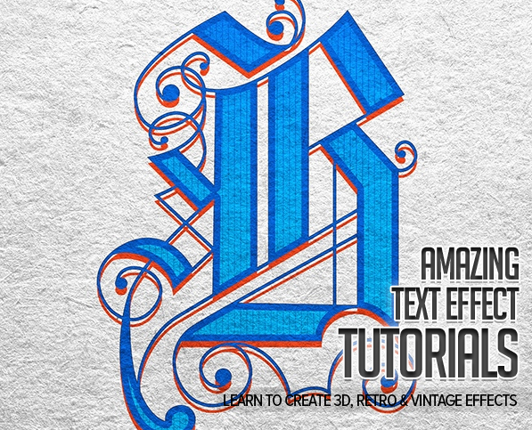 25 Awesome Text Effect Photoshop & Illustrator Tutorials