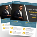 Post thumbnail of Free Corporate Business Flyer PSD Template