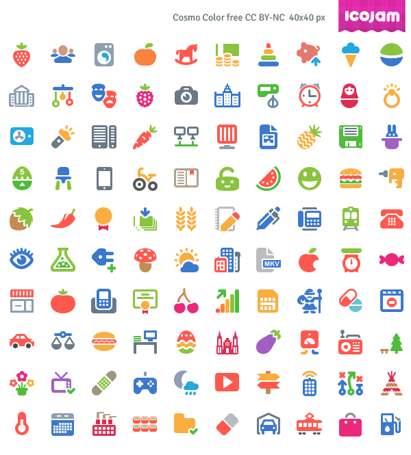 Free Cosmo Color Vector Icons (AI, PSD) - 100 Icons