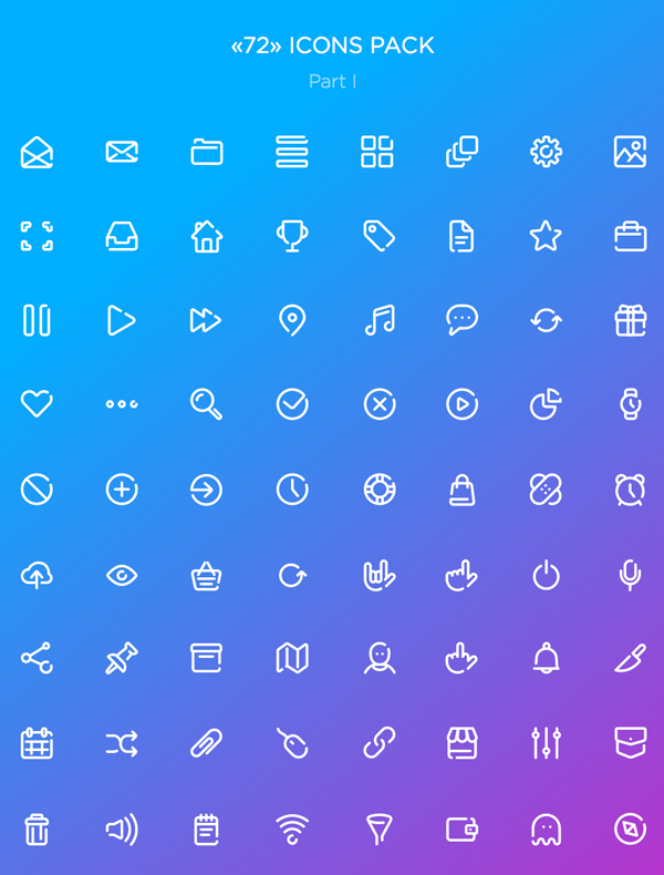 Free Vector Icons (Sketch, AI, PSD) - 72 Icons