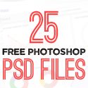Post Thumbnail of 25 New Photoshop Free PSD Files for Graphic Designers