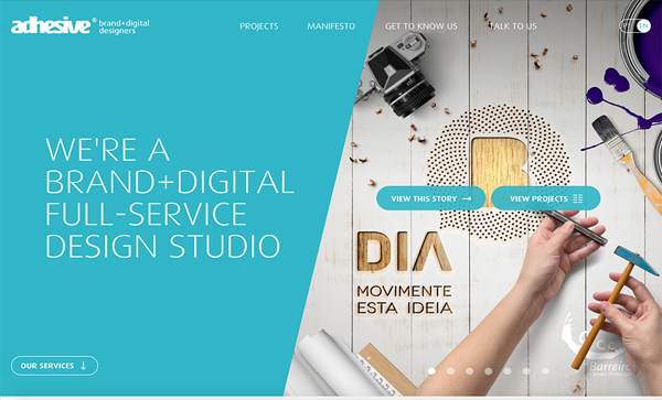 30 New Examples of Responsive Websites with Big Background - 15