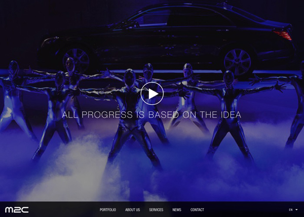 30 New Examples of Responsive Websites with Big Background - 24