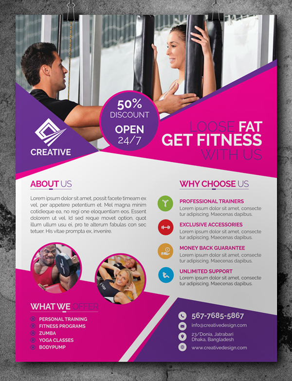 Free Fitness/Gym Flyer Template PSD