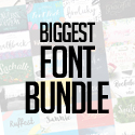 Post thumbnail of Biggest Font Bundle – 75 Fonts