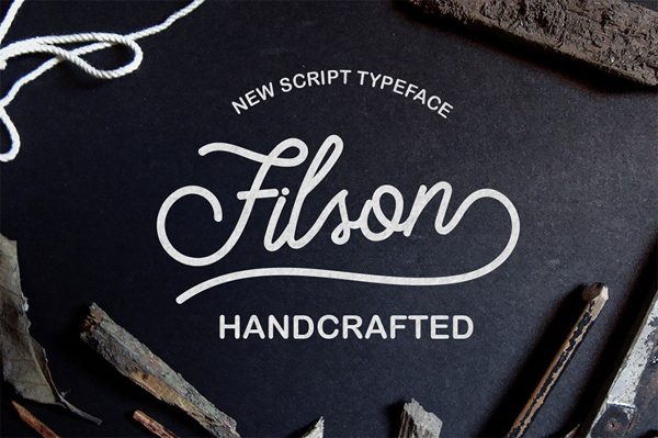 Filson Script hand drawn typeface with many extras
