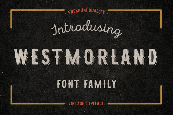 Westmorland vintage and classic letter