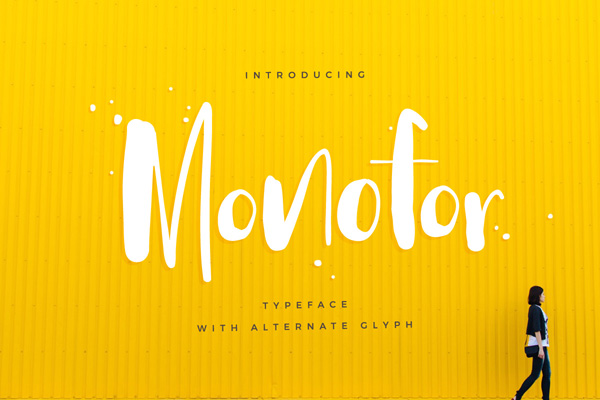 Monofor is quirky and fun and looks good on pretty much everything!