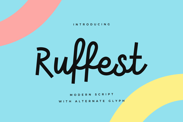 Ruffest is a great new font