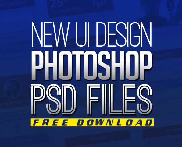 Free PSD Files: Download 25 UI Design Photoshop PSD Resources