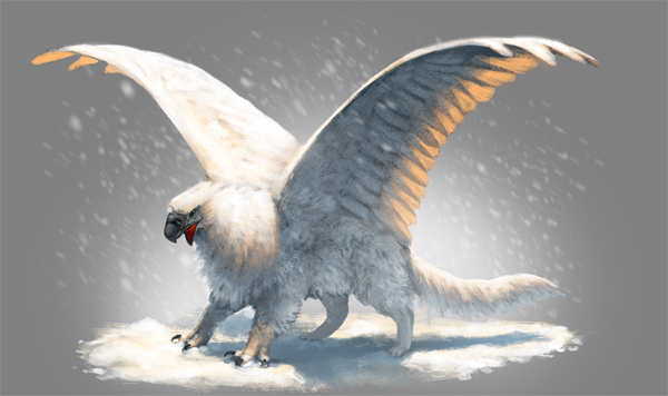 How to Quickly Paint a Snow Griffin in Adobe Photoshop