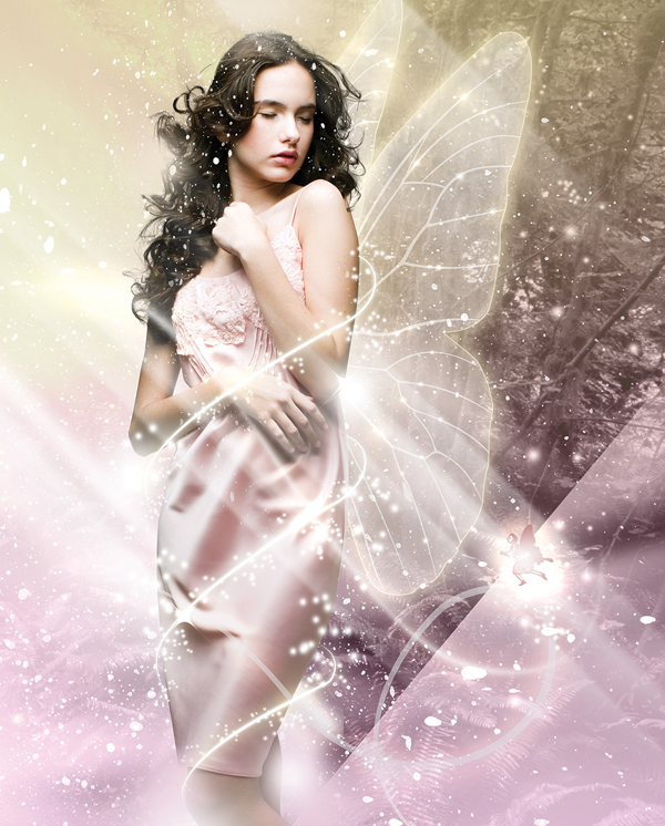How to Add fantasy light effects to photo-based artworks Photoshop tutorial
