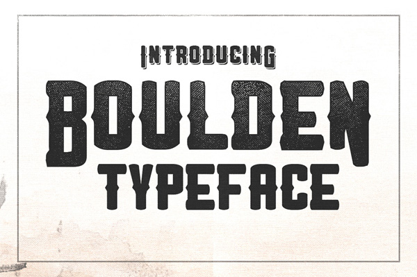 Boulden is bold! all caps