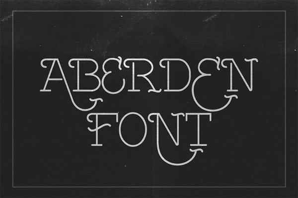 Aberden is an all caps thin font with uniq style