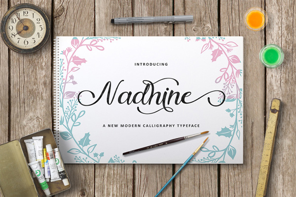 Nadhine Script is a new handwritten stylish copperplate calligraphy fonts