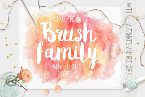 The Brush Family (Includes 3 Fonts)