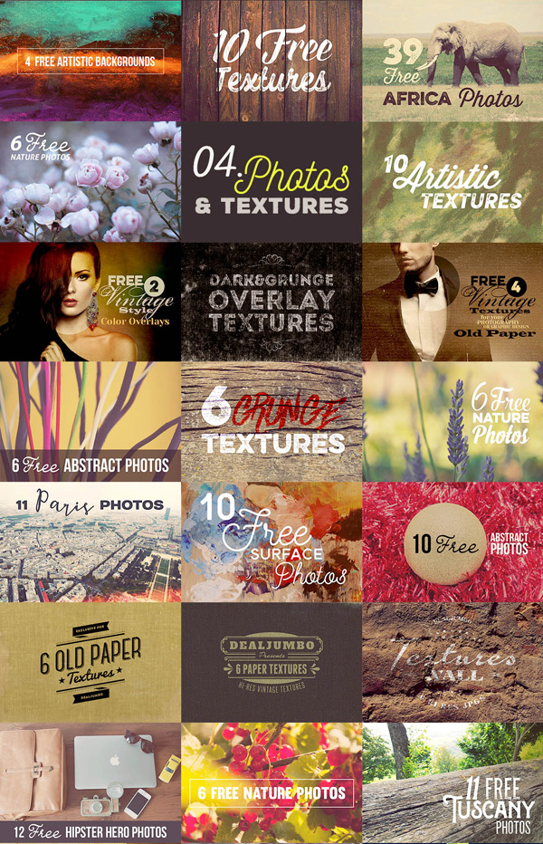 Free 100s of photos & backgrounds