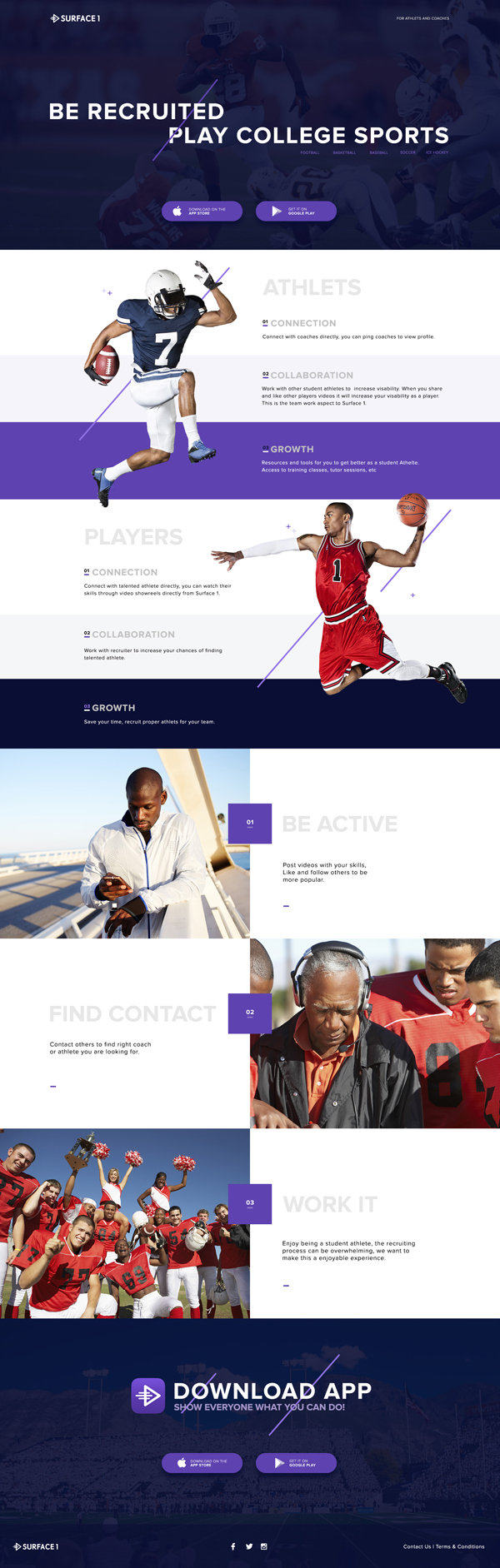 Free Sport Landing Page PSD+Sketch