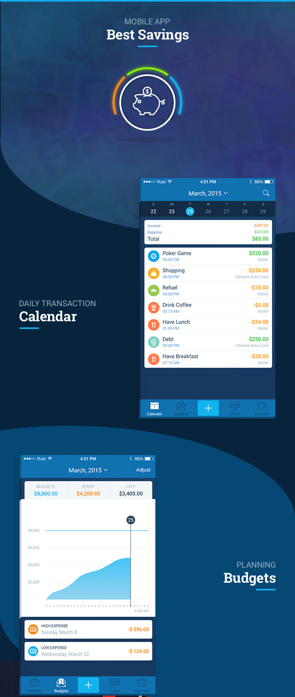 Free Mobile App PSD Templates