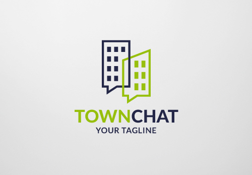 Town Chat Logo Template