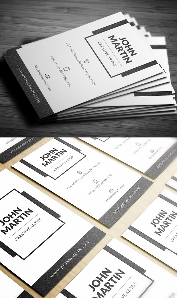 Clean Royal Individual Business Card