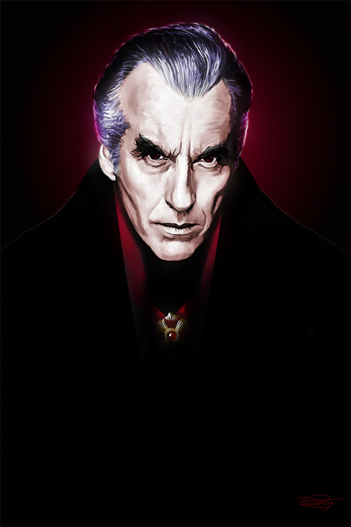 Dracula - Based on Christopher Lee Illustration by Daniel Murray