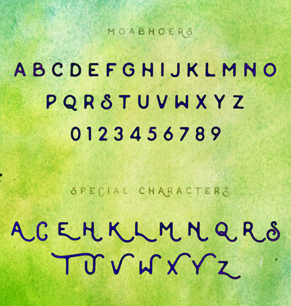 Moabhoers Font Letters