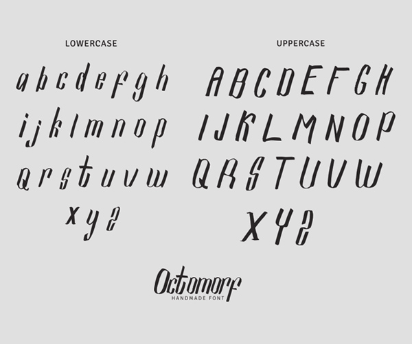 Octomorf Font Letters