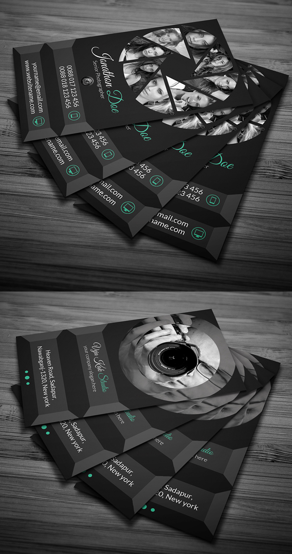 Photography Business Card Design #14