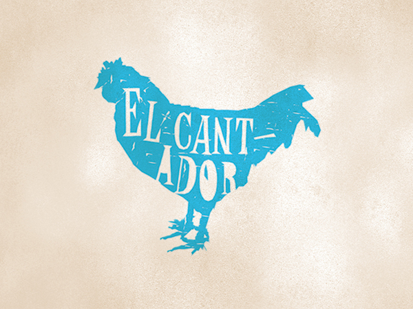 Elcantador Rooster Logo by Johnny Gwin