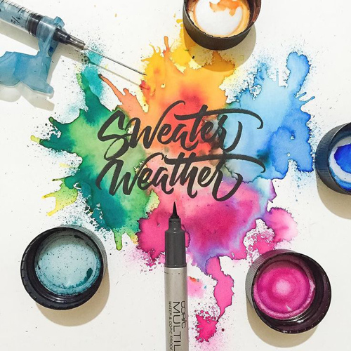 Sweater Weather handwriting lettering