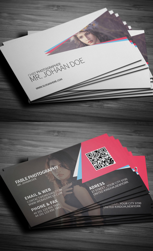 Photography Business Card Design #4