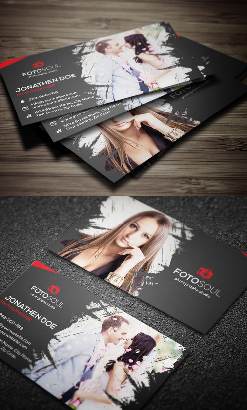 Photography Business Card Design #6