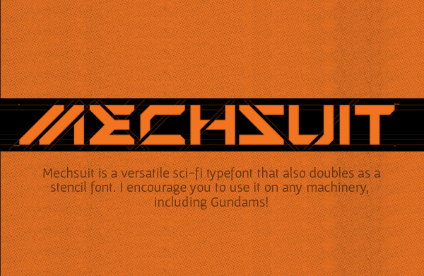 Mechsuit Stencil Font - Free Download