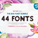 Post thumbnail of The Big Font Bundle – 44 Fonts